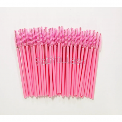 Light pink mascara wands