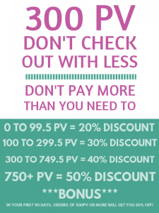 Don't check out with less than 300 PV